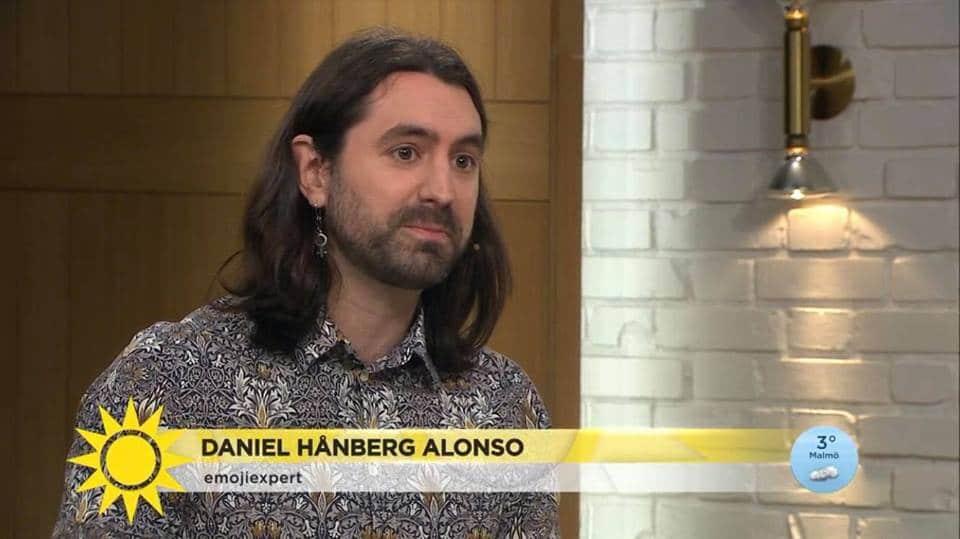 Daniel Hånberg Alonso, Emoji expert, TV4 Nyhetsmorgon